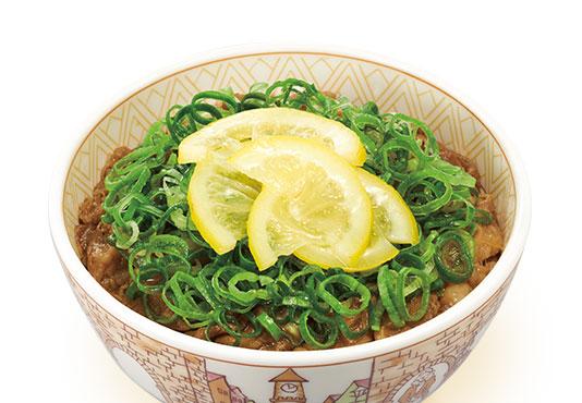 ねぎ塩レモン牛丼