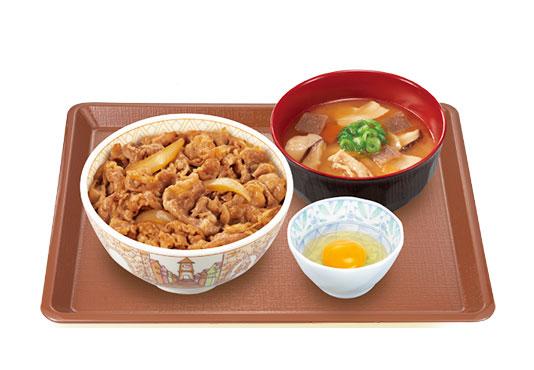 牛丼モーニングセット