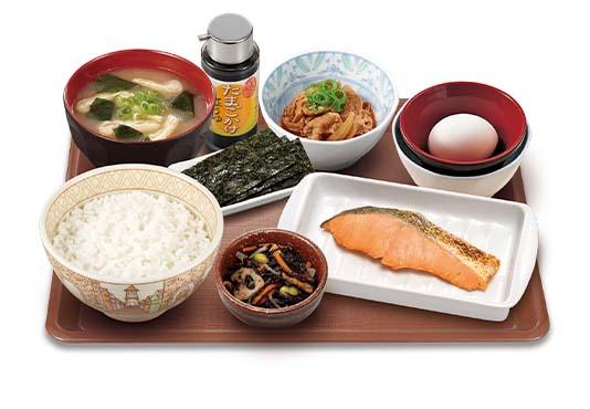 鮭デラックス朝食