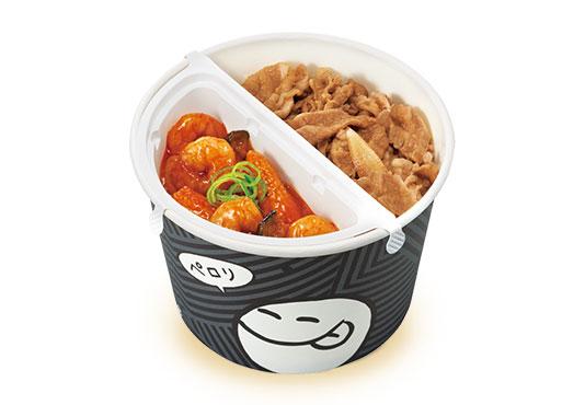エビチリ牛丼弁当